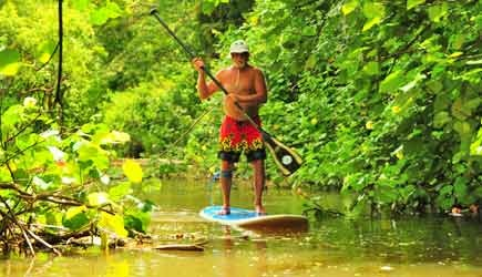 stand up paddle hanalei river