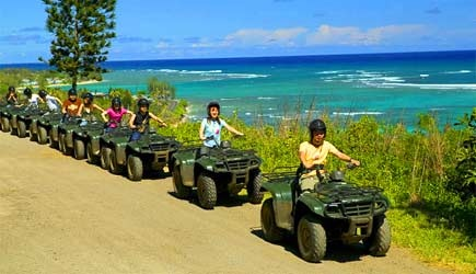 atv along the coast