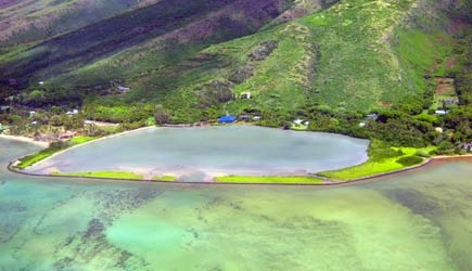 Molokai ancient fish ponds