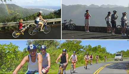 Bike Hawaii Oahu A fun downhill bike tour on