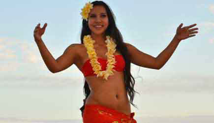 sheraton luau dancer