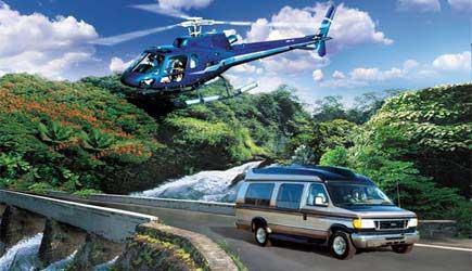hana helicopter van tour