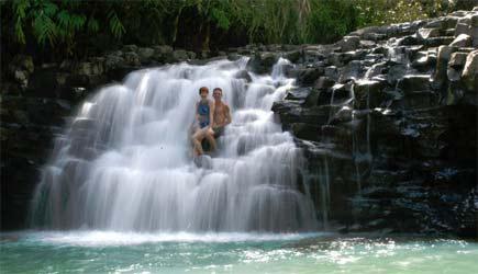 short waterfall hike