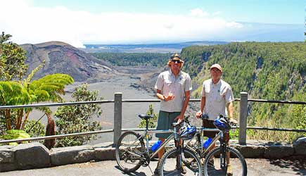 bike around kilauea volcano