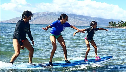 aloha surf school in maui