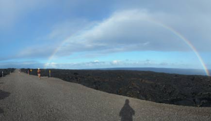 Hike on Gravel Road to Lava